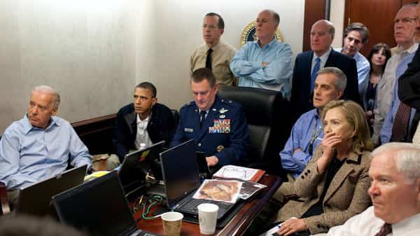 Tony Blinken present in the Situation Room with President Obama in 2011 (Pete Souza - Official White House photographer )