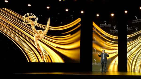 Actor Richard Kind hosts the 48th International Emmy Awards Ceremony, in New York,  (via REUTERS)