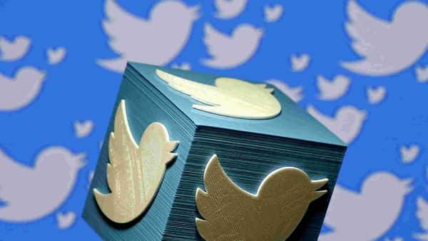 FILE PHOTO: A 3D-printed logo for Twitter (REUTERS)