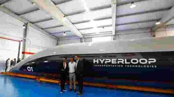 Hyperloop is a travel system that uses pods vehicle travelling at high speed through low-pressure tubes erected on columns or tunneled underground using magnetic levitation. (Reuters)