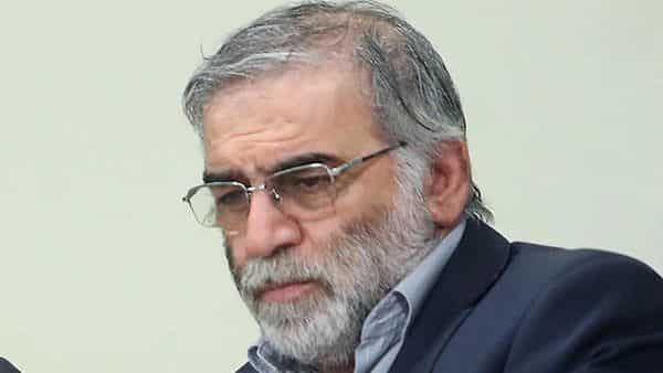 A handout picture provided by the Iranian Supreme Leader's official website on November 27, 2020, shows Iranian scientist Mohsen Fakhrizadeh. (AFP)