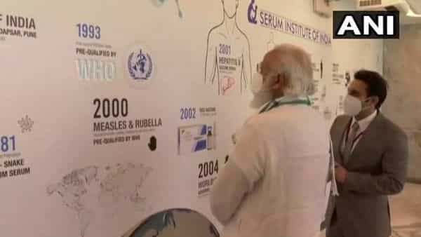 Prime Minister Narendra Modi with Serum CEO Adar Poonawalla (ANI)