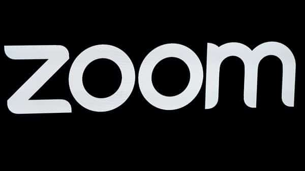 FILE PHOTO: The Zoom Video Communications logo is pictured at the NASDAQ MarketSite in New York, (REUTERS)