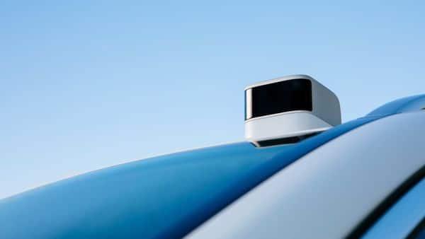 Sensor is seen on a vehicle at Aeva Inc, a Mountain View, California-based startup that makes lidar sensors to help self-driving vehicles  (via REUTERS)