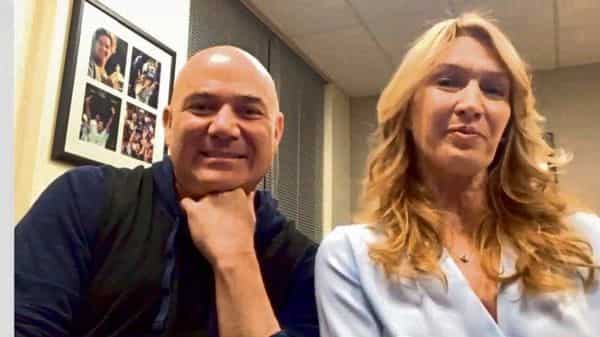 Tennis stars Andre Agassi and Steffi Graf. (MINT_PRINT)