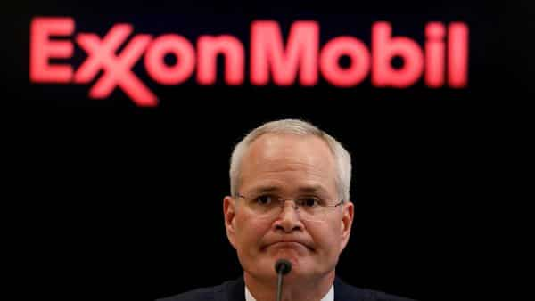 FILE PHOTO: Darren Woods, Chairman & CEO of Exxon Mobil Corporation speaks during a news conference at the New York Stock Exchange (NYSE) in New York, U.S., March 1, 2017. REUTERS/Brendan McDermid/\/File Photo/File Photo (REUTERS)