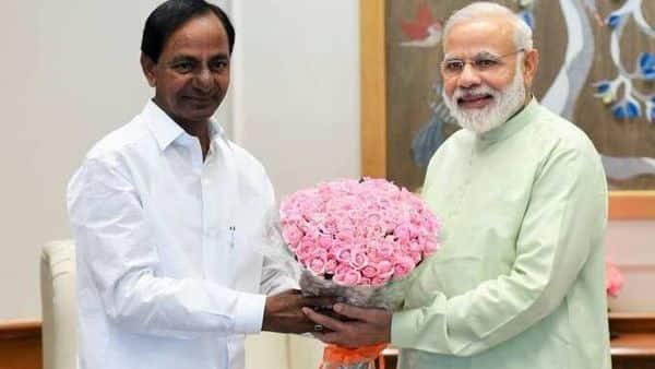 File photo: Telangana CM writes to PM Modi. (ANI)