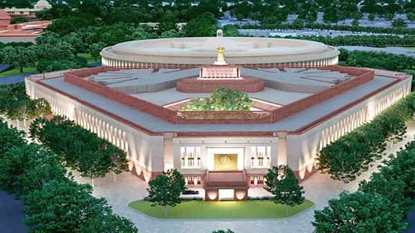 A model of the proposed new Parliament building in New Delhi (PTI)