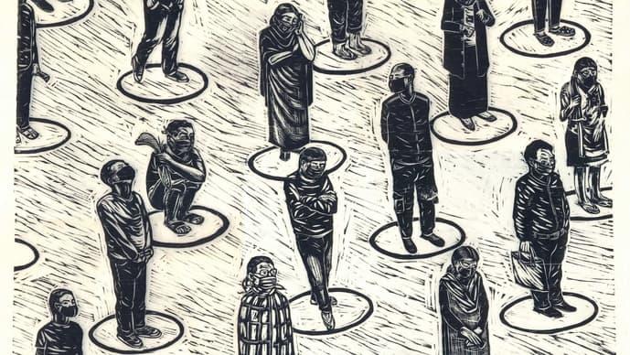 Detail from Circles, by Treibor Mawlong.