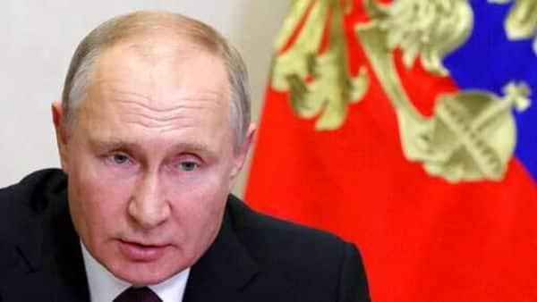 Russian President Vladimir Putin chairs a Security Council meeting via video conference at the Novo-Ogaryovo residence outside Moscow, Russia, Friday, Dec. 18, 2020. (Mikhail Klimentyev, Sputnik, Kremlin Pool Photo via AP) (AP)