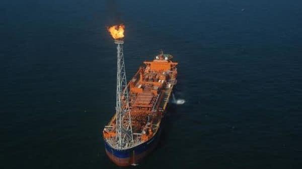 A file photo of a drilling platform at RIL's KG-D6 exploration block.
