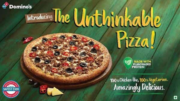 Domino's latest offering is '100% vegetarian and yet has the sensory properties of chicken,' the company said