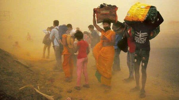 Perhaps the most defining image was the long march undertaken by millions of migrants. (Photo: Hindustan Times)