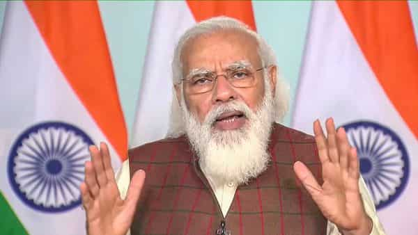 PM Modi was speaking at an event to virtually lay the foundation stone of All India Institute of Medical Sciences (AIIMS) in Rajkot, Gujarat (PTI)