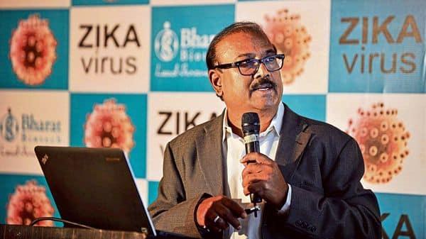 Bharat Biotech chairman and managing director Krishna Ella.
