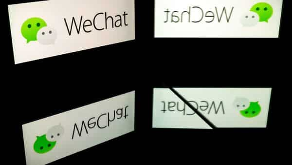 A file photo showing the logo of mobile messaging service WeChat. (AFP)