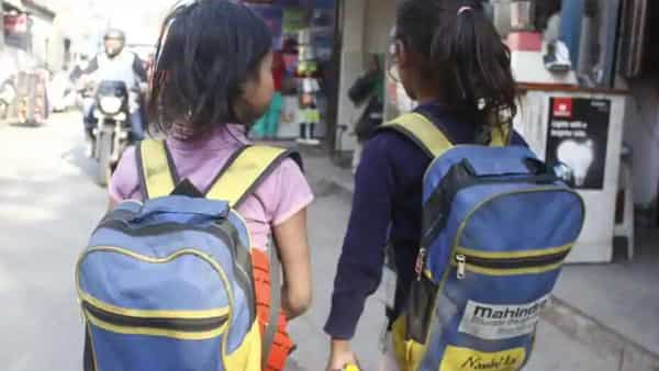 No textbooks for pre-primary classes to single notebook for classes 1 and 2 were among the recommendations made by the Education Ministry in its new policy on school bags. (HT)