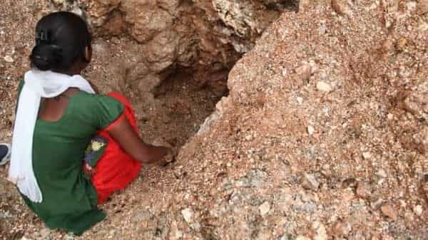 A file photo of an illegal mica mine in Jharkhand's Giridih district