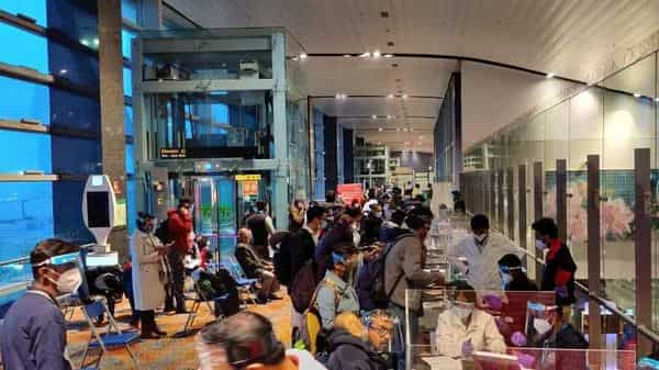 The Central Government has reduced the number of flights to the UK from 60 per week to 30 to curtail the faster-spreading mutant strain in the country. (ANI)