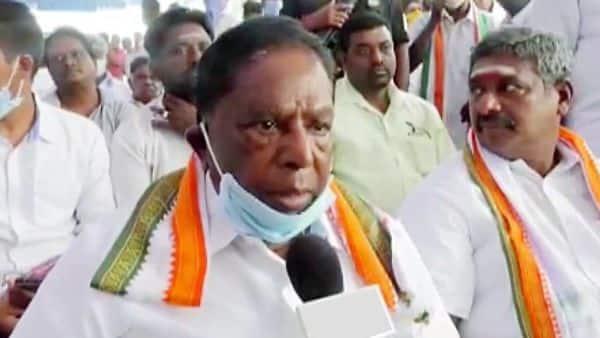 Puducherry Chief Minister V Narayanaswamy.