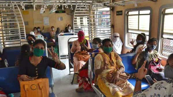 The lifeline of Mumbai, local trains, was back on track since June last year after the nationwide lockdown imposed on March 25, but the initial services were only for essential workers. Later, women commuters were allowed to travel between 11am to 3pm and after 7pm till the last train. (HTFILE) (HT_PRINT)