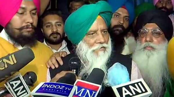 Bharatiya Kisan Union chief Balbir S Rajewal speaks to the media, at Singhu Border in New Delhi on Friday. (ANI Photo)