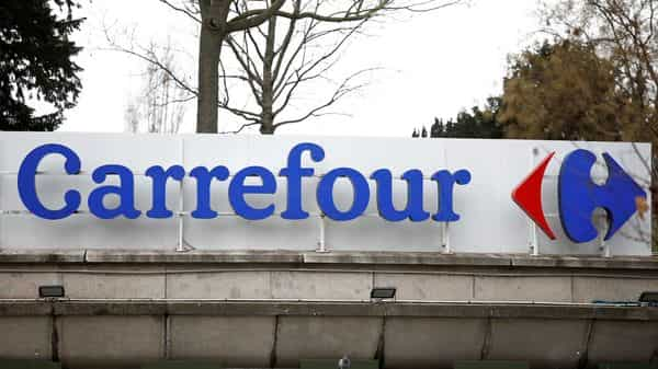 Carrefour, with roughly a fifth of France's groceries market, played a major role in ensuring smooth food supplies as the COVID-19 pandemic hit (REUTERS)