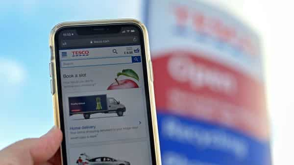 Tesco reported record Christmas sales, with online demand booming due to virus lockdown restrictions (AFP)
