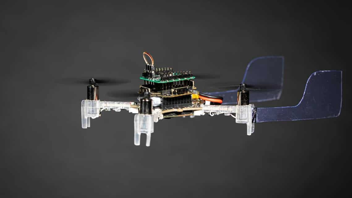 This tiny drone can avoid obstacles but also navigate towards smells, just like a moth