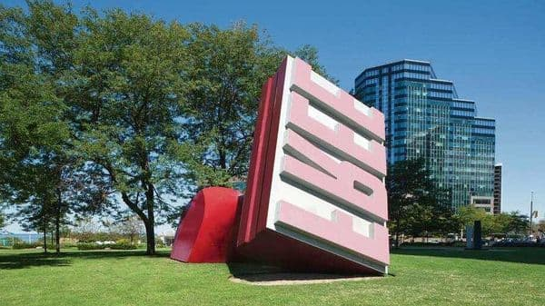 Post-liberalization, tweaks to policy were made to ease trade, and the environment ministry has facilitated clearance for industry and found ways to extract resources within its purview. The Free Stamp, by Claes Oldenburg and Coosje van Bruggen, is the world's largest rubber stamp  (Photo: Alamy)