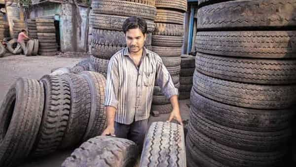 Demand for cross-ply tyres, which are more popular in the replacement market, is shrinking at about 5% a year. Photo: Bloomberg