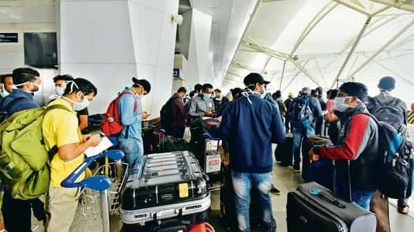 Indian airports saw 15.79 mn passengers in December. HT