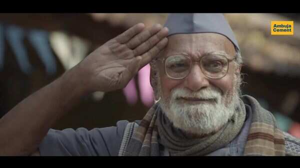 Ambuja Cement's campaign 'School' shows an aged school peon who believes in keeping the tradition of celebrating Republic Day alive.