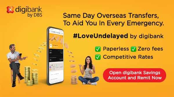 digibank by DBS is your instant, intelligent and intuitive financial partner that makes remitting money abroad as simple as sending an email
