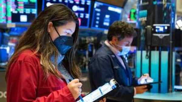 Trader Ashley Lara works on the floor, Friday, Jan. 29, 2021. GameStop's stock is back to the races Friday, and the overall US market is down again, as the saga that's captivated and confused Wall Street ramps up the drama. (AP)