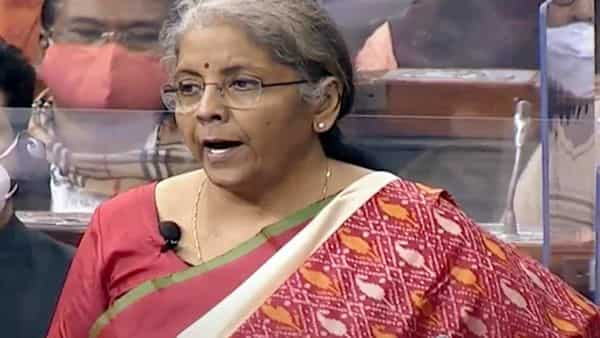 Union Minister for Finance and Corporate Affairs, Nirmala Sitharaman presents the Union Budget 2021-22 in Lok Sabha in New Delhi on Monday. (ANI Photo/ LSTV Grab)