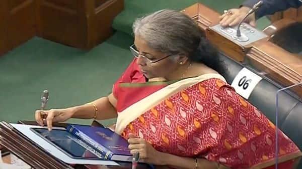Union Finance Minister Nirmala Sitharaman presents the Union Budget 2021-22 in Lok Sabha (ANI Photo )