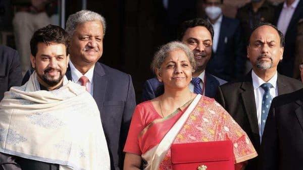 Finance Minister Nirmala Sitharaman ahead of presenting  Budget 2021 in New Delhi (Bloomberg)