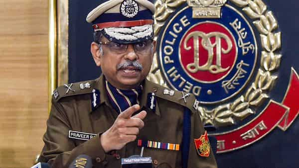 Praveer Ranjan, Special Commissioner of Police (CP), Delhi Police, speaks during a press conference at Police Headquarters, in New Delhi (PTI)