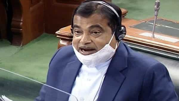 Union Minister for Minister of Micro, Small and Medium Enterprises Nitin Gadkari speaks in Lok Sabha during the Budget Session of Parliament, in New Delhi on Thursday. (ANI Photo/ LSTV Grab)