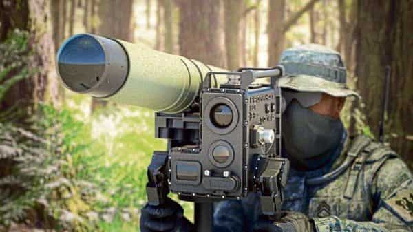 Tonbo's command launcher unit for a man-portable anti-tank guided missile integrated with AI-enabled imaging infrared seeker for homing in on targets.