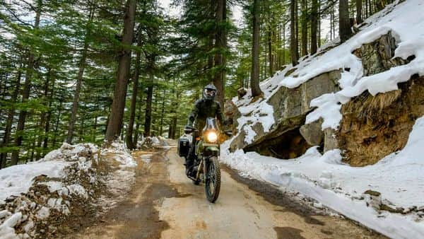 The new 2021 version of the Himalayan in Pine Green colour