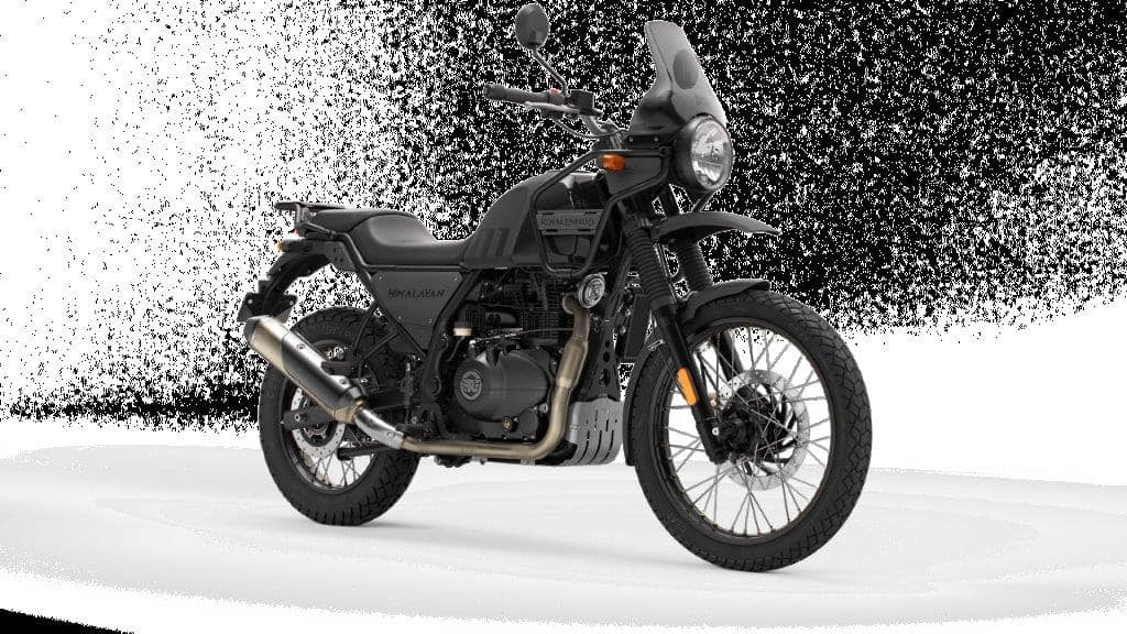 While the powertrain remains the same, the new Royal Enfield Himalayan comes with new seat, windscreen and rear carrier. (In pic: Granite Black variant)