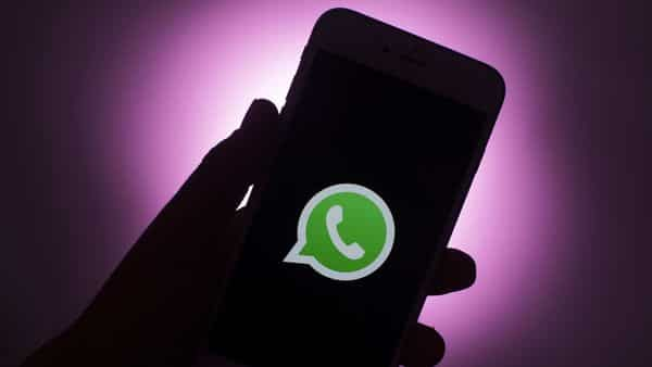 The logo for WhatsApp messaging app arranged on a smartphone (Representative image). (Bloomberg)