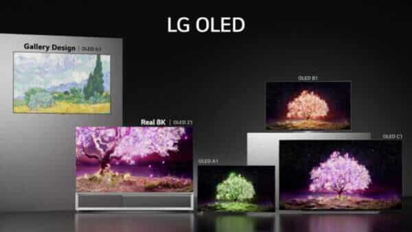 LG's 2021 OLED TV technology is featured in Z1, G1, C1, B1, A1 series