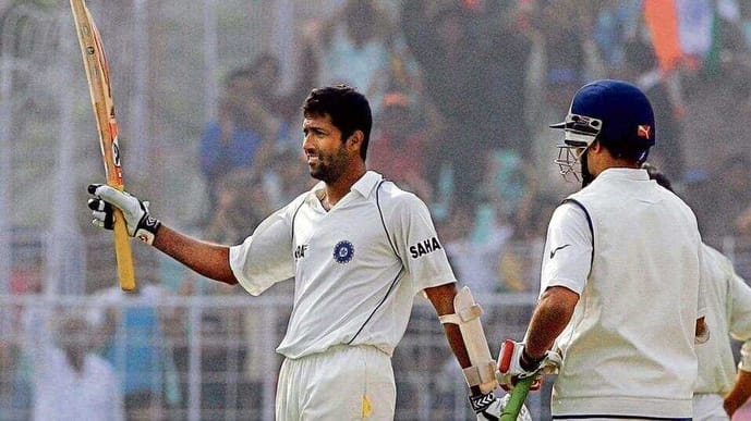 Wasim Jaffer scoring a double century for India in 2007.