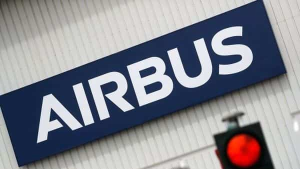 The logo of Airbus is pictured at the entrance of the Airbus facility in Bouguenais, near Nantes, France, July 2, 2020. REUTERS/Stephane Mahe/Files (REUTERS)