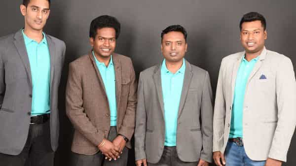Sathvik Vishwanath and co founders Sunny Ray, Harish BV and Abhinand Kaseti