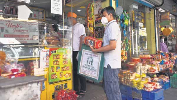 Since the lockdown struck in March last year, over 80% kirana stores saw an increase in customers. (MINT_PRINT)