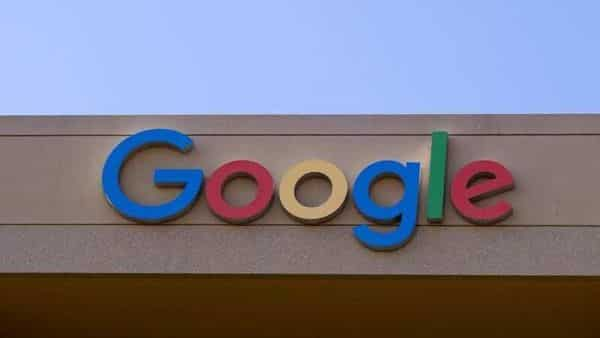 FILE PHOTO: The Google sign is shown on one of the company's office buildings  (REUTERS)